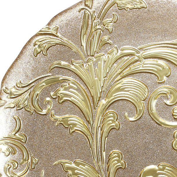 アカンサス プレート 28cm ゴールド