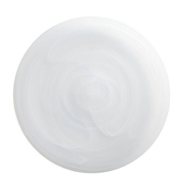 アラバスター プレート 28cm ホワイト(マット仕上げ)