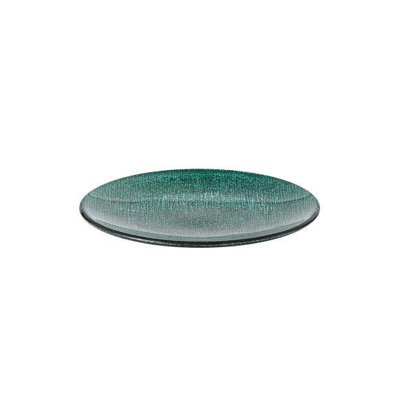グリッター プレート 14cm ピーコックグリーン