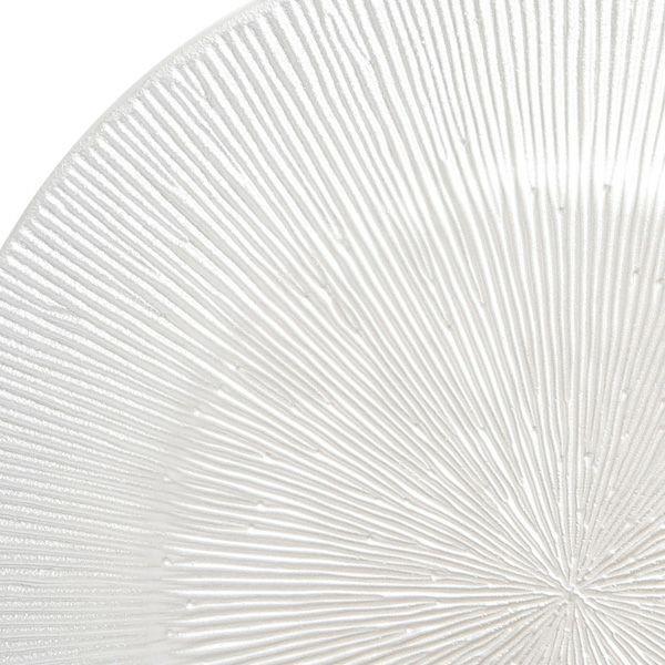 コスモ プレート 21cm ホワイトパール