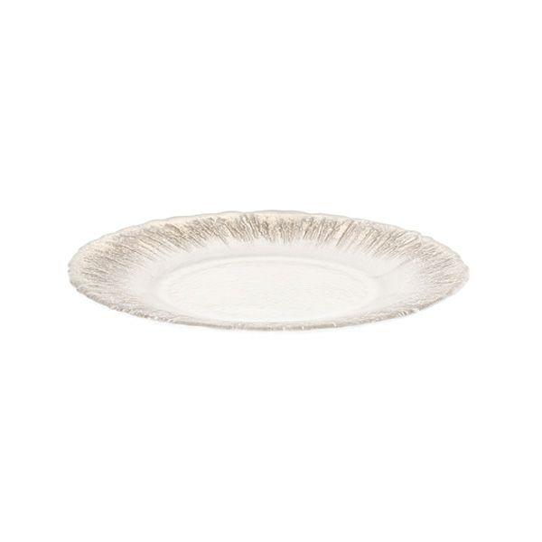 フラッシュ プレート 21.5cm ホワイトパールxジンジャー