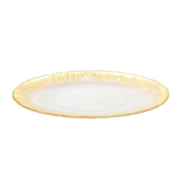 フラッシュ プレート 28cm ゴールド