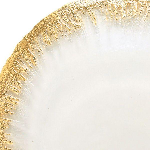 フラッシュ プレート 28cm クリア&ゴールド