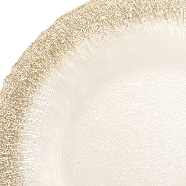 フラッシュ プレート 28cm ホワイトパールxジンジャー