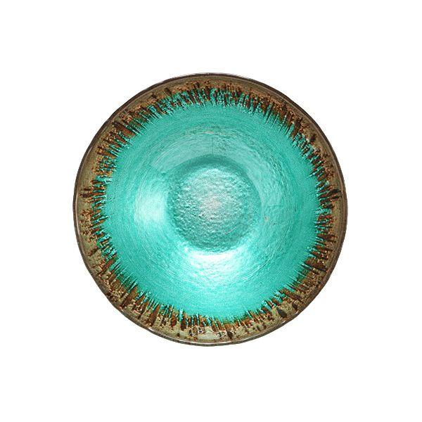 フラッシュ ボウル 17cm ターコイズブルー&ゴールド