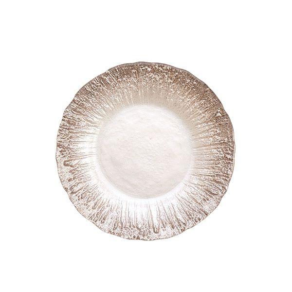 フラッシュ プレート 15cm ホワイトパール&ジンジャー